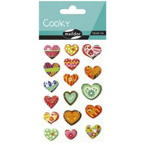 Stickers Cooky Maildor - coeurs