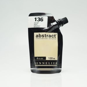 Peinture Acrylique Abstract Sennelier - 120ml - titane buff