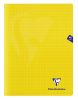Cahier Clairefontaine Mimesys - 24x32 cm - 48 pages - petits carreaux - jaune