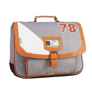 Cartable Tann's 38 cm - gris-orange